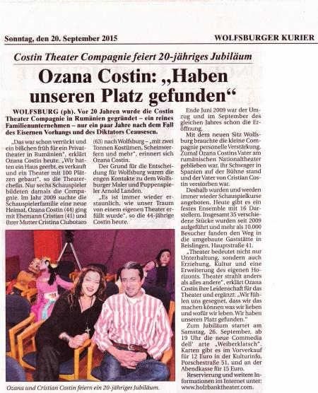 Costin Theater Compagnie 20 Jahre-Kurier
